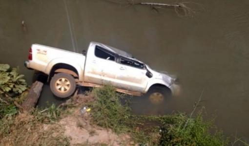 Caminhonete cai em rio e empresário morre afogado na zona rural de Sorriso
