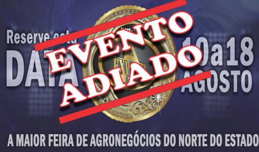Juara: 28° EXPOVALE está oficialmente adiada com nova data ainda indefinida