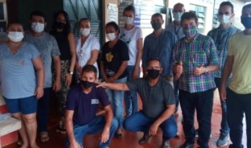 VIce-Prefeito, secretário de saúde e vereadores visitam distrito em Juína
