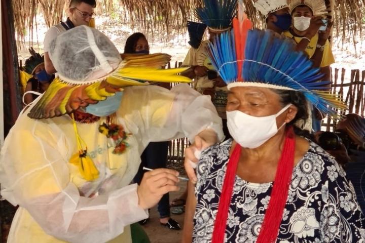 70% da população indígena de MT foi vacinada contra a Covid-19; mais da metade tomou a 2ª dose