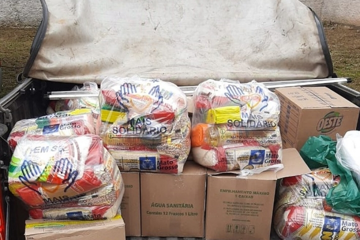 Cabeleireiro é preso suspeito de vender cestas básicas desviadas de campanha solidária do governo em MT