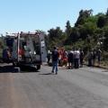 Jovem sofre grave acidente de moto próximo ao posto Paineira