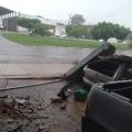 Chuva com granizo  causa estragos em Juína MT