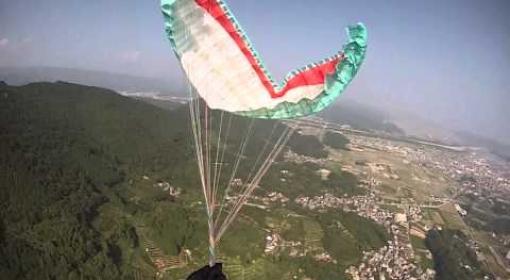 #Impressionante acidente com paraglider